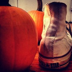 A still life. In preparation for Halloween. What to be…? #whitecons #pumpkin