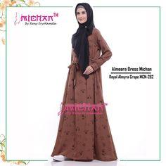 Gamis Michan Almeera Dress MCN 252 - baju muslim wanita baju muslimah Untukmu yang cantik syari dan trendy . . -Saku 2 depan (kanan-kiri) -Lingkar bawah kurleb 28m -Bahan : Royal Almyra Crepe -Resleting depan busui friendly -Lengan manset dengan kancing Bungkus -Tali pinggang nempel yang bisa diikat kedepan atau belakang . . Size chart: XS: LD 92cm PB 130cm S: LD 94cm PB 135cm M: LD 96cm PB 138cm L: LD 100cm PB 140cm XL: LD 108cm PB 142cm . . Ready size XS Harga Rp 200.000 (gamis saja)…