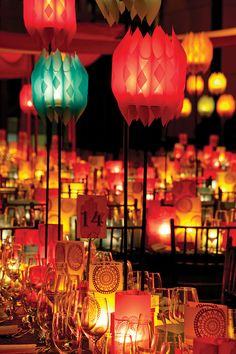 Pro DIY Project: David Stark's Patterned Party Luminary from the Printer Chai, David Stark, Bollywood Party, Event Lighting, Lighting Ideas, Theme Color, Paper Lanterns, Event Decor, Event Themes