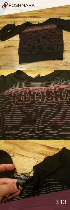 metal mulisha distressed sweat top Metal mulisha distressed sweat top size small Metal Mulisha Tops