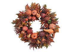 Halloween Wreath Decorations-Autumn Wreath-Fall Wreath-Front Door Wreath-Pumpkin