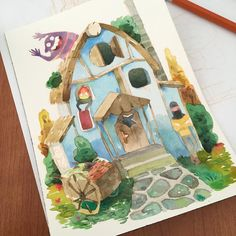 Almost finished the cover of my sketchbook! It will be available in the upcoming Expocomic of Madrid (11-12-13 December) #watercolor #illustration by caro.waro