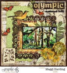 Layout created with the Deluxe Collector's Edition of Botanicabella by Maggi Harding.