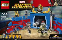 Two LEGO® sets have been leaked from the upcoming Thor Ragnarok film, and they are both pretty spiffy. The sets are based on the big battle with Hela seen Hulk Marvel, Ms Marvel, Marvel Art, Film Thor Ragnarok, Power Rangers, Legos, Lego Dc Comics, Superman, Gladiator Hulk