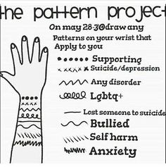 Supporting, suicide/depression, lgbtq+, bullied, self harm, and anxiety...