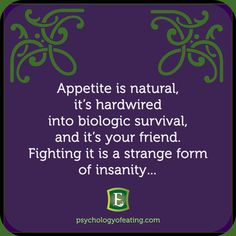 Appetite is Natural. #edrecovery #eatingdisorders