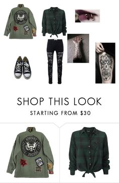 """Ramones Outfit"" by shandy25 ❤ liked on Polyvore featuring R13 and Converse"