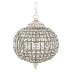 Chandelier Kasbah Oval Small (Nickel) - Chandeliers - Lighting