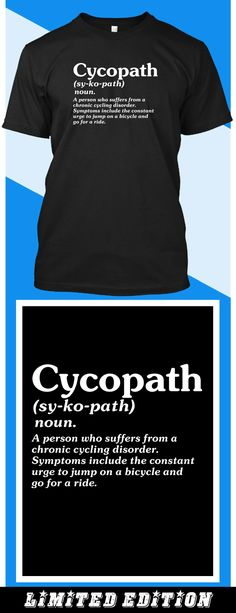 Cycopath - Limited edition. Order 2 or more for friends/family & save on shipping! Makes a great gift!