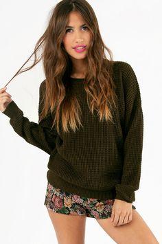 Waffle Knit Sweater ~ TOBI