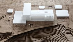 Bal kesir B y k ehir Belediyesi Hizmet Binas Yar mas Hospital Design, Arch Model, Urban Design, Architecture Design, Minimalism, Logs, Layout, Interior, Pretty