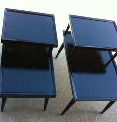 Antique 70's side tables
