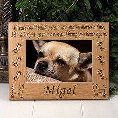 Chihuahua Memorial Dog Frame