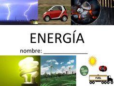 Vocabulario de la Energía - 63 Energy Vocabulary Slides in Spanish for the dual-language/bilingual 4th grade classroom. Ciencias Físicas. Physical Science.