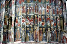 The Painted Monasteries of Bucovina & Moldova  -  Sucevita Painted Monastery - Frescoe