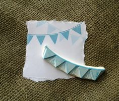 Rubber Stamps-Bunting Hand Carved