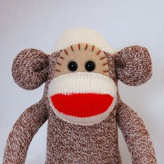 Red Heel Sock Monkey