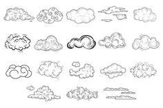 Hand Drawn Cloud Set by TopVectors on @creativemarket
