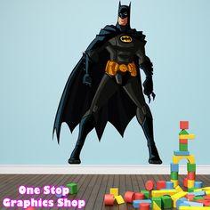 BATMAN FULL COLOUR WALL ART STICKER GRAPHIC - BOYS MARVEL HULK IRON MAN C1   eBay