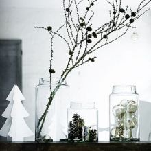 Christmas decorations in jars | @styleminimalism