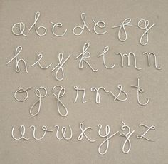 how to make letters out of wire