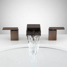 Willis Widespread Waterfall Faucet - Bathroom Sink Faucets - Bathroom SKU: 924621 Signature Hardware