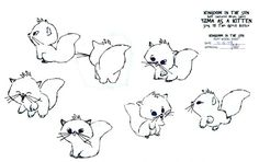 Living Lines Library: The Emperor's New Groove (2000) - Model Sheets & Production Drawings awww kitty!