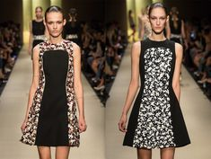 Guy Laroche Spring 2015 giant pailette shift dresses by Marcel Marongiu