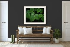 Green Nature Wall Art Emerald Green Leaf Photo Print Nature | Etsy Flowers To Go, Industrial Wall Art, Green Wall Decor, Botanical Wall Art, Green Nature, Flower Pictures, Country Decor, Green Leaves, Emerald Green