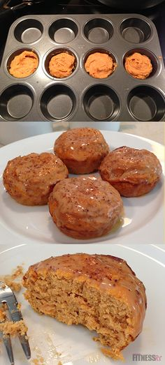 HEALTHY Pumpkin Cinnamon Rolls! One of our most popular recipes and FitnessRx favorite!