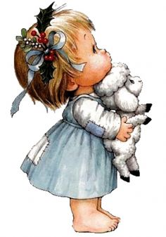 Holly Hobbie, Baby Art, Cute Illustration, Fabric Painting, Vintage Children, Art Children, Cute Cartoon, Cute Drawings, Cute Kids