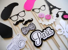 Paris Photo Booth Props . Parisian Photo Booth by ThePropMarket