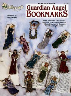 Free Patterns Plastic Canvas Angels | Guardian Angel Bookmarks Plastic Canvas Patterns - KarensVariety.com