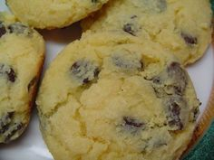 Cream Cheese Chocolate Chip Cookies - taste more like muffin tops than cookies!