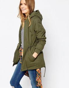 Asos green military coat