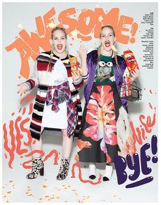 The Beckerman Sisters / Grazia Mexico on Behance