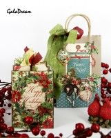 Mini album and holiday gift using The Twelve Days of Christmas by Galina GalaDream #graphic45
