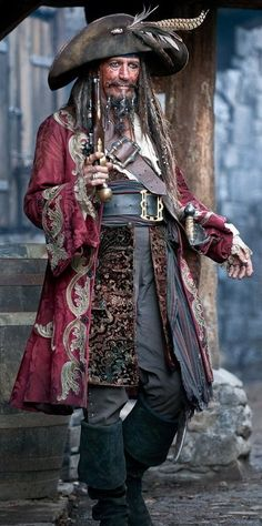 Pirates are fundamentally Hard Cases. This one is played by Keith RIchards who was born for the role and spent most of his adult life preparing his face for the part. Brix