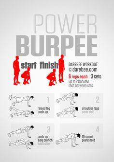Power Burpee Workout