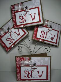 Cute snowman card stampin up big on christmas
