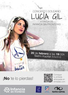 AVISO IMPORTANTE CONCIERTO Lucía Gil --> Si tienes menos de 14 años, ven acompañado de un adulto. Si tienes más de 14 años, no olvides tu DNI y...A disfrutar!! http://boton.com.es/lucia_gil.html