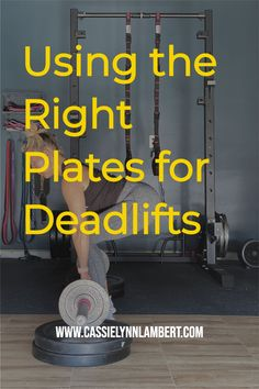 The right deadlift height is necessary for proper deadlift mechanics/form...I've written a free blog post that breaks down everything you need to know about selecting the right plates for deadlifts. Weight Lifting Tips, Weight Training, Gain Muscle, Build Muscle, You Fitness, Fitness Tips, Confidence Building, Good Fats