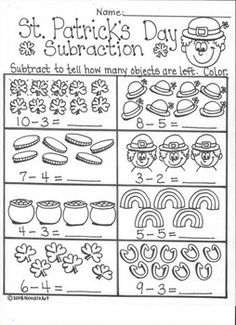 How many leprechauns? Free printable 1-10 counting