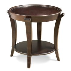 round accent table   Schnadig International - End Table - Blythe Round Lamp Table - by ...