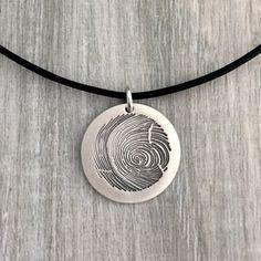 Fingerprint necklace custom fingerprint by CustomLeatherDesign