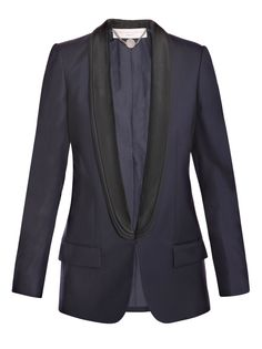 I would wear this Stella McCartney navy with black lapel blazer all the time!!