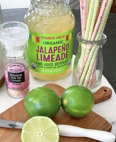 Trader Joe's Jalapeno Limeade Margarita Summer Drinks, Cocktail Drinks, Fun Drinks, Cocktail Recipes, Alcoholic Drinks, Beverages, Food And Drinks, Cocktail Shaker, Mixed Drinks
