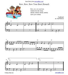 Row Row Row Your Boat (Round) - children's song and round
