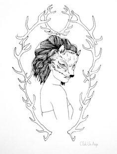 Pauline Penhouët Illustration Illustrations, Moose Art, Animals, Tatoo, Draw, Animales, Animaux, Illustration, Animal