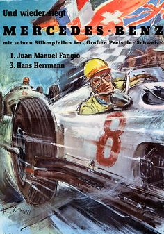 Mercedes-Benz Racing Posters 1908-1955